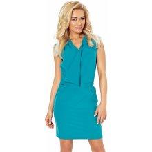 Morsky modré šaty s prekladaným výstrihom 94-6 cae67f1c93d