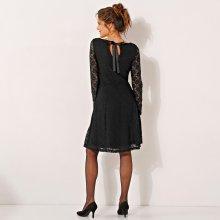 6493c18b657f Blancheporte čipkové šaty s dlhými rukávmi čierna