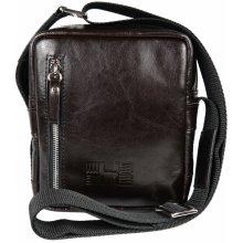 HOFFEbelts kožená taška cez rameno Cross S-Choco bcd62309ef2