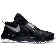 Nike Team Hustle D8 Childrens Basketball Shoes Black Silver 60f48abaaa