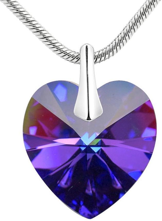 Strieborný prívesok Srdce Crystal Heliotrope vyrobený so Swarovski Elements  + LSW007P fbca8d858e4