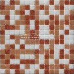 MOSAGRES MSB32 Pressglass Mozaika - sklo, 327x327x4mm, mix bílá a oranžová