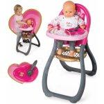 SMOBY 24206 Minnie jedálenská stolička pre 42 cm bábiku s 2 doplnkami