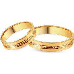 b1aa6f62d iZlato Design Zlaté svadobné obrúčky s gravírovaným vzorom šírka IZOB137