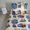 Obliečky detské kamióny biele EMI Obliečka na vankúš valec malý