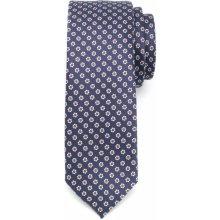 Pánska úzka kravata vzor 1169 6063 v modré farbe