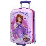 ABS cestovný kufor Princezná Sofia prvá motýle 50 cm