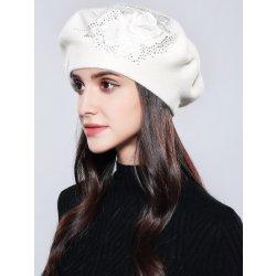 e517ffd46 Dámska elegantná baretka s kvetom Biela od 39,90 € - Heureka.sk