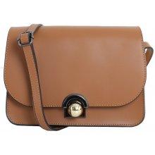 2db8545aeb Talianska malá plesová kožená kabelka luxusná crossbody medová Elisa