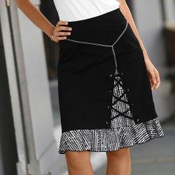 5ed5e67096eb Blancheporte dámska sukňa so šnurovaním čierna biela alternatívy ...