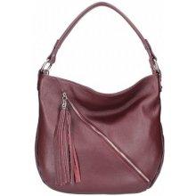 Made In Italy kožená kabelka na rameno 5100 bordová 01cd422a7d1