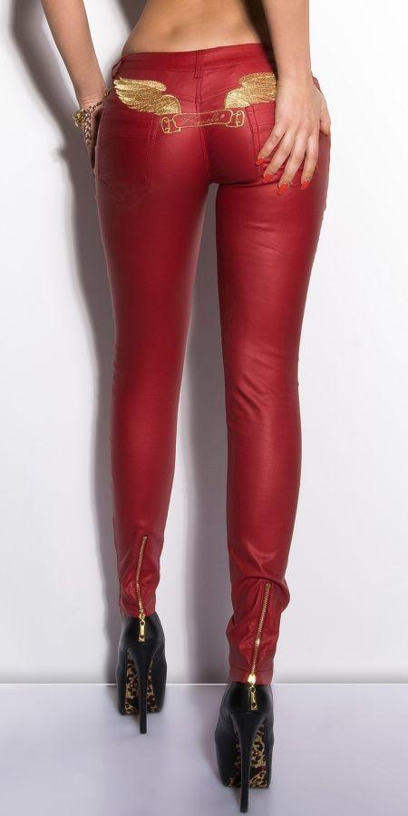 9d9d97f083a Dámské nohavice vzhľad koža červené alternatívy - Heureka.sk