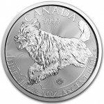 Stříbrná investiční mince Vlk Predator 1 Oz 2018