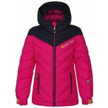 Loap dievčenská lyžiarska bunda Omrava ružová