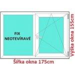 Soft Dvojkrídlové plastové okno 175x155 cm, FIX+OS
