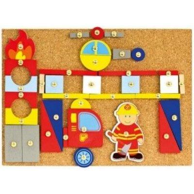 Bino Hra s kladivkom hasiči 82197, Bino Hra s kladivkom hasiči - Drevená zatĺkačka