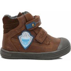 df0d7cf1c Ponte 20 Chlapčenské kožené topánky s futbalovým logom hnedé od 28 ...