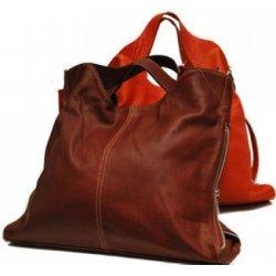 kabelka na každý deň kožená tmavo oranžová hnedá alternatívy ... 0cd4efffe40