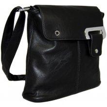 Menší crossbody dámská kabelka D1083 černá
