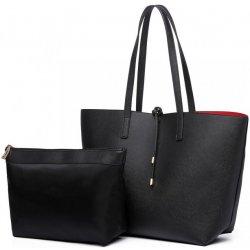a0b28fab5029b kabelka shopper obojstranná tote čierna alternatívy - Heureka.sk