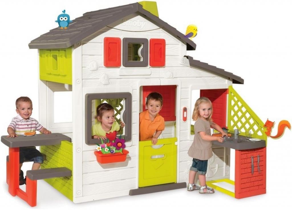 dd6db49aaa46e Smoby 810201 domček Priateľov s kuchynkou lavicou a elektronickým zvončekom