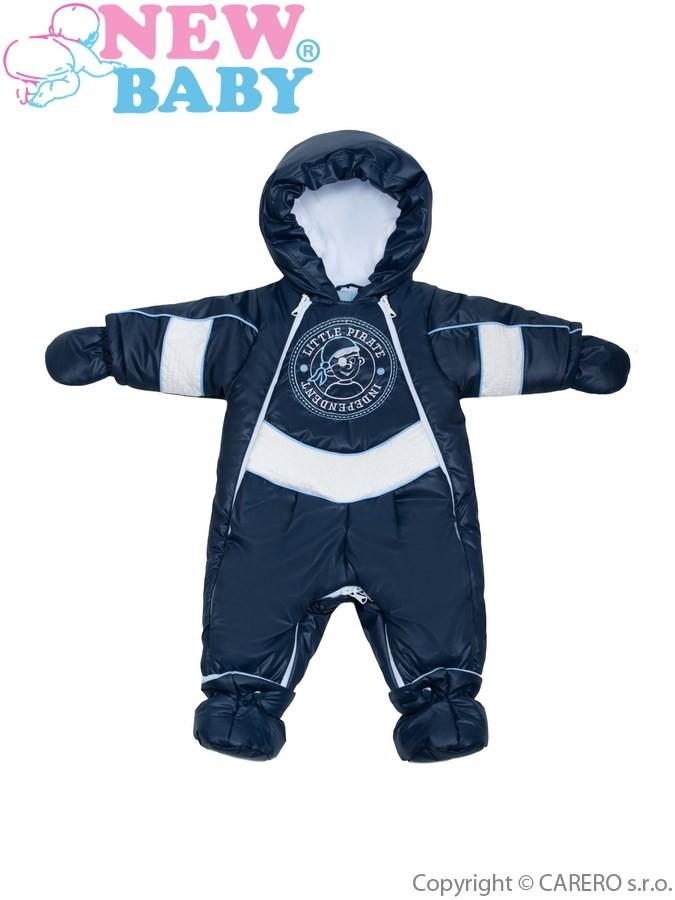 49fbbcb1a Dojčenská kombinéza New Baby Zimná kombinéza Pirát tmavo modrá ...