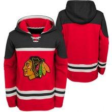Detská hokejová mikina s kapucňou adidas Asset Pullover Hood NHL Chicago Blackhawks