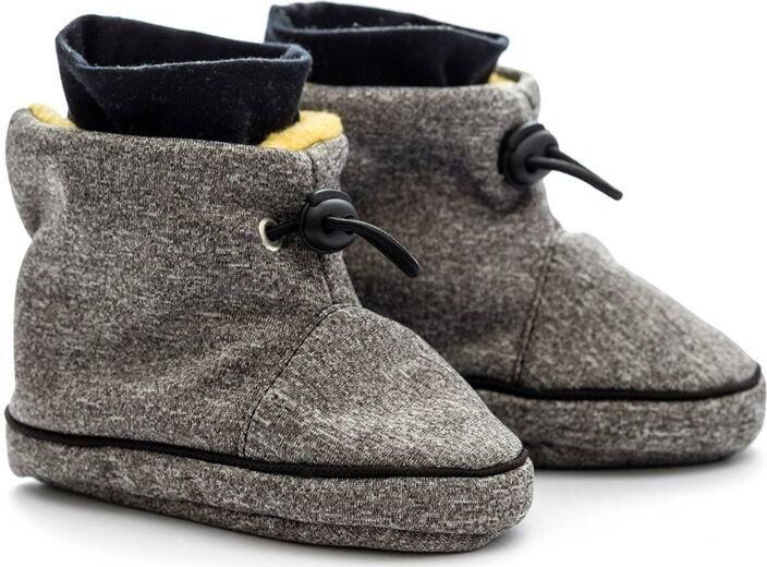 c3a39b508 Dojčenské topánky Liliputi softshellové čižmičky šedá žltá ...