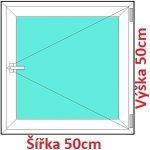 Soft Plastové okno 50x50 cm, otváravé