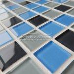 MOSAGRES No-036 Mozaika 30 x 30 cm sklo šedomodrá mix