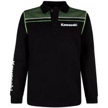 7dd838b83eb9 KAWASAKI polo tričko s dlhým rukávom SPORTS black   green
