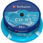 Verbatim CD-R 700MB 52x, 25ks