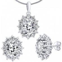 4fd644a95 Silvego strieborný set šperkov Cesaria náušnice a prívesok JJJS985