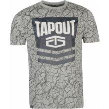 Tapout Chevron T Shirt Mens Grey Marl