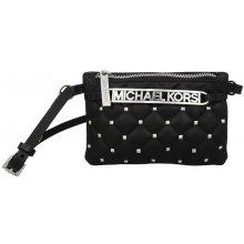 Michael Kors Elegantná dámska kabelka s opaskom Studded Logo Belt Bag - čierna / strieborná 553365c-2 S