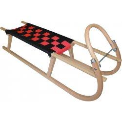 SULOV Dřevěné saně TATRA 120cm černo-červená
