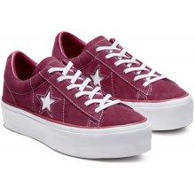 Converse One Star semišové tenisky na platforme vínové bordové 8d50882e037
