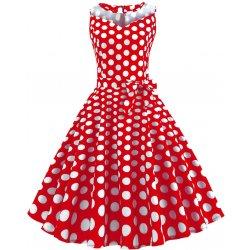3df811348c94 Retro šaty 1950 s bodkami (SWING1 style) červené alternatívy ...