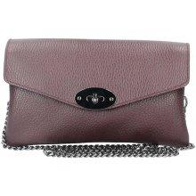 Made In Italy kožená kabelka na rameno bordová a8775d72ed5