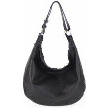 53f1bc3efe Made In Italy kožená kabelka na rameno 5064 čierna