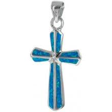 56c4e359c Argento Strieborný prívesok opál modrý kríž 8509100