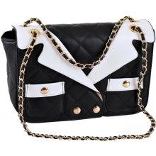 b3e88db905ed LAURA VITA kabelka vzor košeľa čierno biela