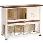 Ferplast Exteriérová drevená klietka pre zajace RANCH 100 BASIC,92x47x81 cm