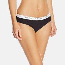 Calvin Klein čierne nohavičky s bielou širokou gumou Bikini Slip