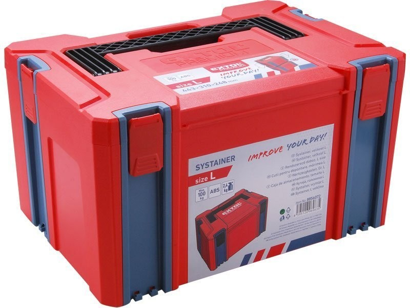 1175ee3890d33 EXTOL PREMIUM Systainer, L velikost, rozměr 443x310x248mm, ABS
