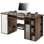 PC stôl Tempo Kondela Mops Saldo orech Orech + Biela