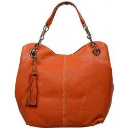 kožená kabelka Oranžová kožená kabelka Oranžová alternatívy - Heureka.sk 3e2a565ff66