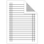Podložka A5 do zošita papierová linajková štvorčeková