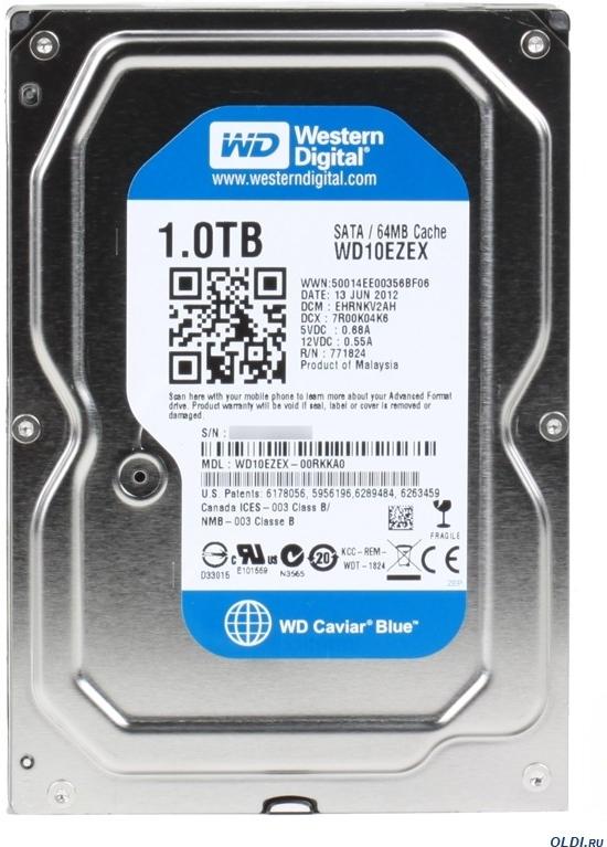 Pevný disk Western Digital Caviar 1TB, SATA/600, 7200RPM