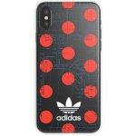 Púzdro ADIDAS - Apple iPhone X/XS Clear Case 70'S - Red/ biele